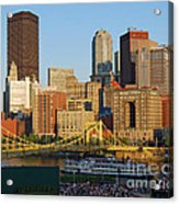 Pnc Park And River Boat Acrylic Print