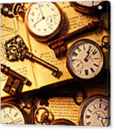 Pocket Watches And Old Keys Acrylic Print