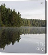 Pog Lake Tree Line Acrylic Print by Chris Hill