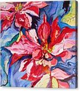 Poinsettia Color Acrylic Print
