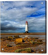 Point Of Ayr Beach Acrylic Print by Adrian Evans