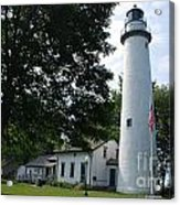 Pointe Aux Barqes Lighthouse Acrylic Print