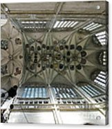 pointed vault of Saint Barbara church Acrylic Print