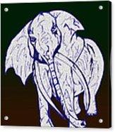 Pointillism Elephant Acrylic Print