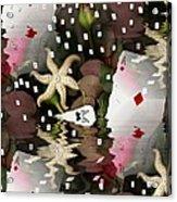 Poker Pop Art All In Acrylic Print by Pepita Selles