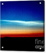 Polar Stratospheric Clouds Acrylic Print