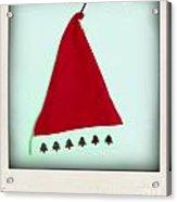 Polaroid Of A Christmas Hat Acrylic Print