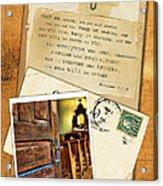 Polaroid Of Open Door To Church With A Bible Verse Acrylic Print