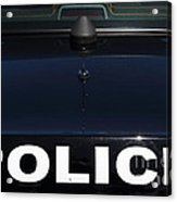 Police . 7d15883 Acrylic Print by Wingsdomain Art and Photography