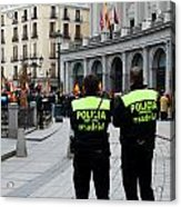 Policia Madrid Acrylic Print