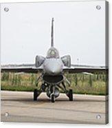 Polish F-16c Block 52 At Albacete Acrylic Print