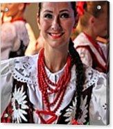 Polish Folk Dancing Girl Acrylic Print