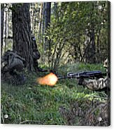Polish Soldiers Engage In Simulated Acrylic Print
