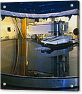 Polishing Of Mirror For Use In Gemini Telescope Acrylic Print