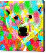 Polychromatic Polar Bear Acrylic Print
