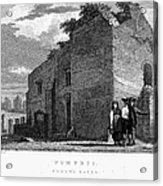 Pompeii: Bathhouse, C1830 Acrylic Print