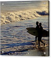 Ponquogue Surfers Acrylic Print