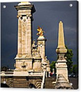 Pont Alexander IIi In Paris Before Storm Acrylic Print by Elena Elisseeva