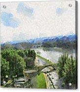 Pont De St Benezet - Avignon Acrylic Print