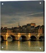 Pont Neuf  At Sunset, Paris, France Acrylic Print by Avi Morag photography