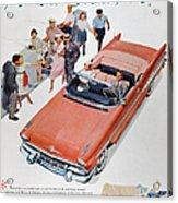 Pontiac Advertisement 1957 Acrylic Print