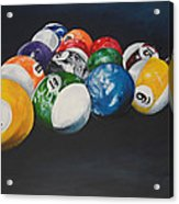 Pool Balls Acrylic Print