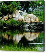 Pool In Marsh At Mystic Ct Acrylic Print