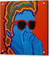 Pop Dylan Acrylic Print by Pete Maier