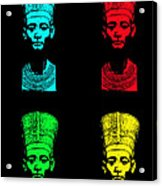 Pop Nefertiti Acrylic Print