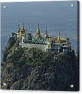 Popa Mountain Top Temple Acrylic Print by Huang Xin