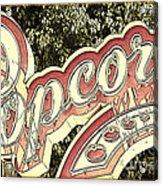 Popcorn Acrylic Print