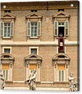 Pope Benedict Xvi C Acrylic Print by Andrew Fare