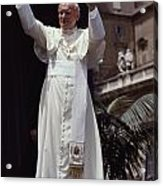 Pope John Paul II Blesses An Audience Acrylic Print by James L. Stanfield
