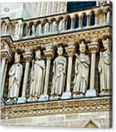 Popes At Notre Dame Cathedral Acrylic Print