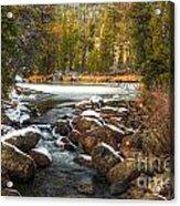 Popo Agie River in Autumn Acrylic Print