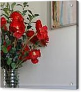 Poppies In Oil Acrylic Print