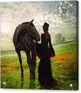 Poppy In The Field  Acrylic Print