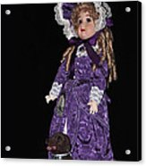 Porcelain Doll - Full View With Puppy Acrylic Print