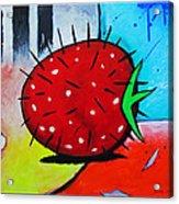 Porcupine Strawberry Acrylic Print