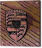 Porsche On Wood Acrylic Print