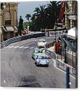 Porsches At Monte Carlo Casino Square Acrylic Print