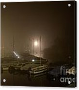 Port At Night In The Fog Acrylic Print