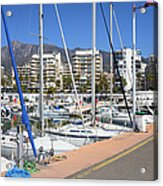 Port In Marbella Acrylic Print
