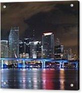 Port Of Miami Downtown Acrylic Print