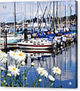 Port Orchard Water Front Marina  Acrylic Print
