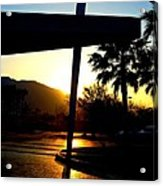 Porte Cochere Sunset Acrylic Print