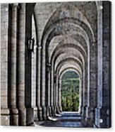Portico From The Valley Of The Fallen Acrylic Print by Mary Machare