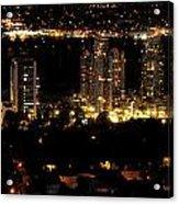 Portland At Night Acrylic Print