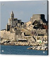 Portovenere's Church And Fortress Acrylic Print