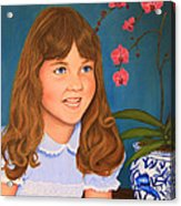 Portrail Of A Young Girl Acrylic Print